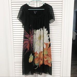 Max Edition   Black Floral Dress